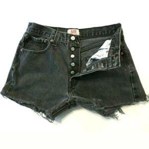Levi's 501 cut off shorts High waist 100% cotton
